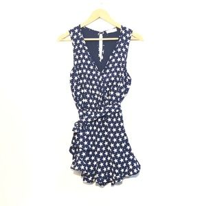 Altar'd State Star Spangled Romper in Navy Small